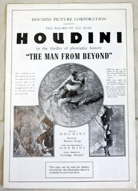 Houdini Press Booklet Man From The Beyond