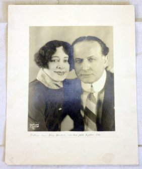 Houdini Last picture signed by Bess